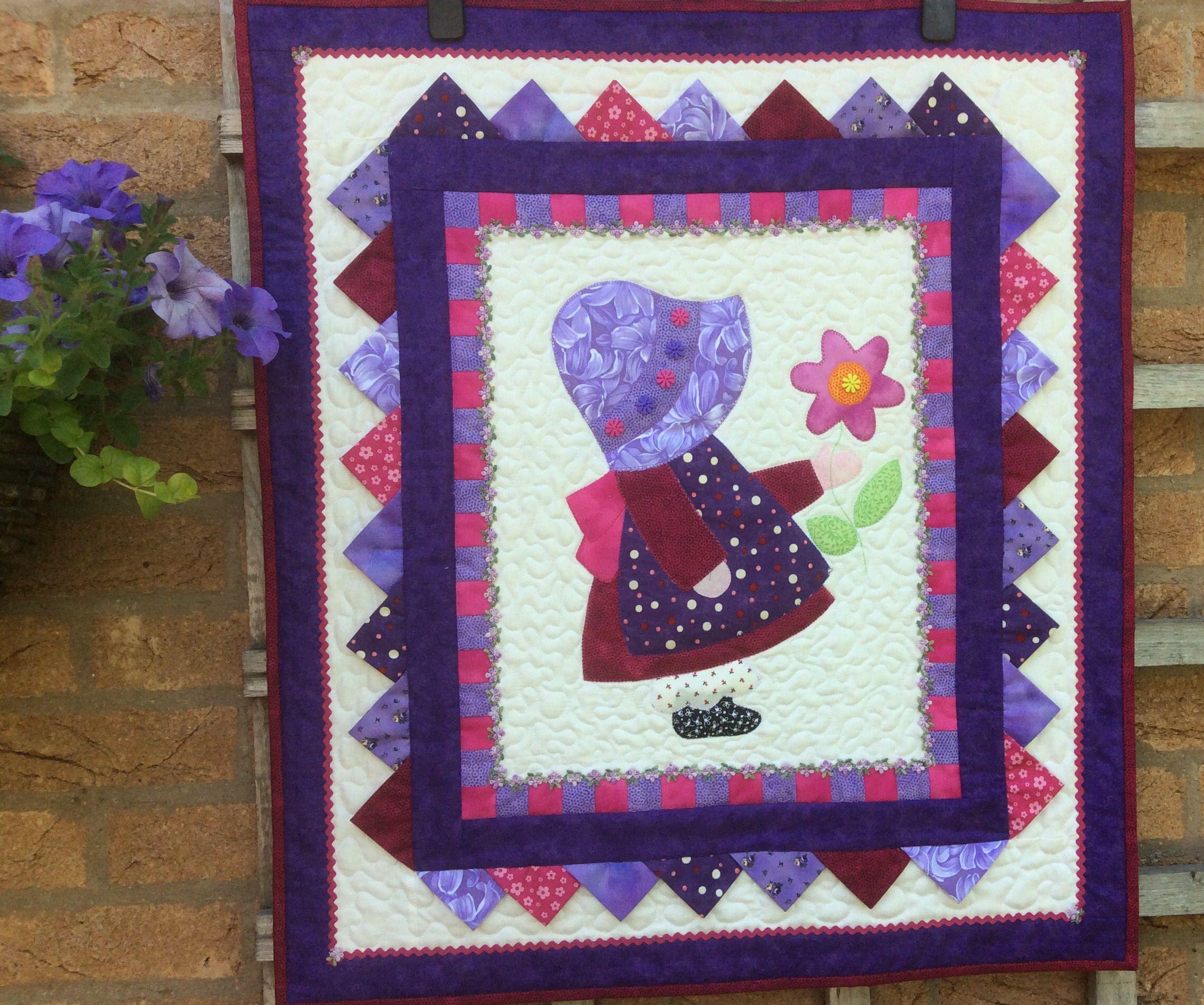 Quilted Wall Hanging.Sunbonnet Sue Wall Hanging.Handmade. Wall Art ... : handmade quilted wall hangings - Adamdwight.com
