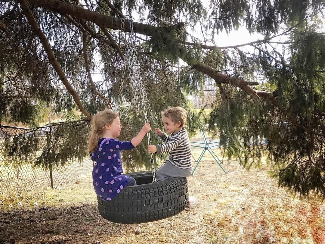 Tire Tree Swing | Little House BIG Joy
