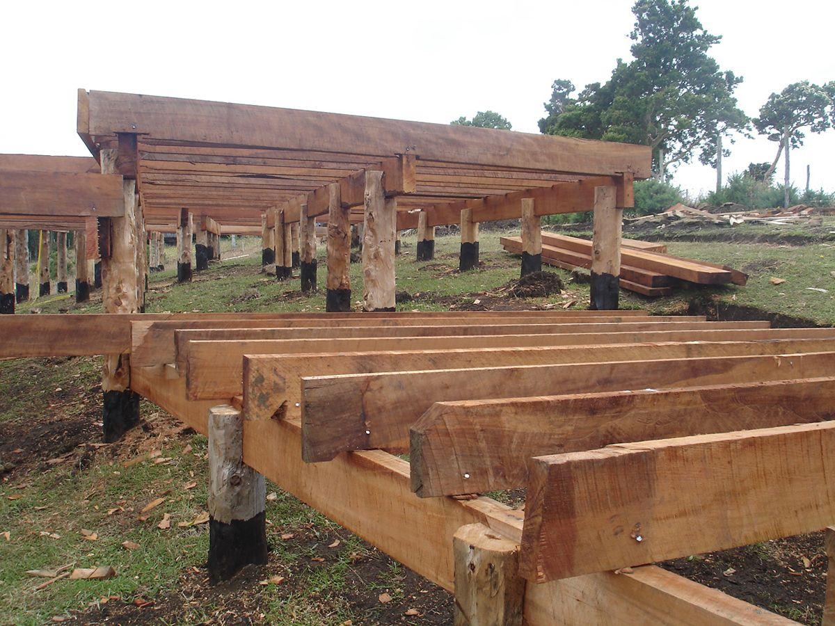 Construccion con pilotes de madera buscar con google - Seguros casas de madera ...