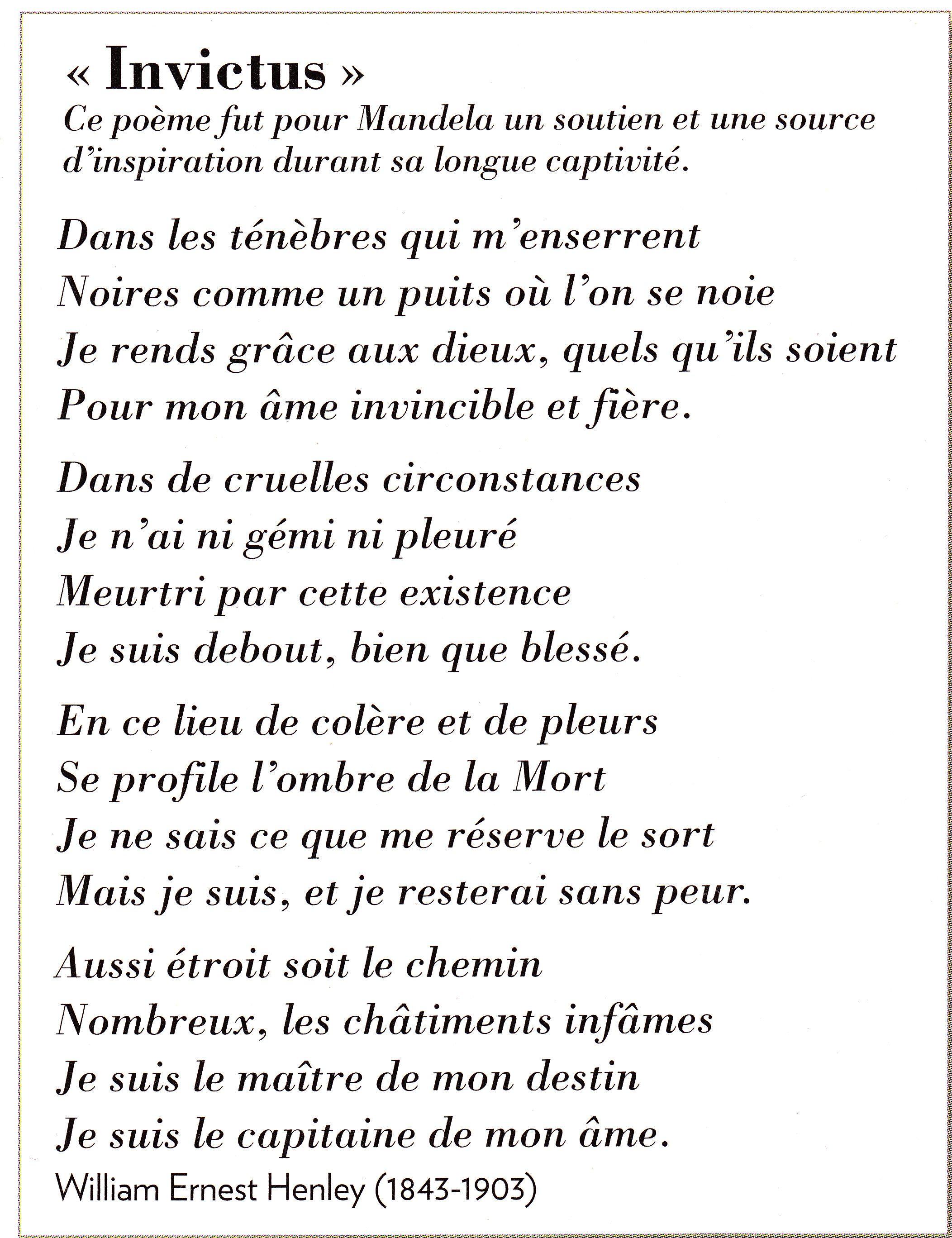 Invictus Poeme Et Citation Proverbes Et Citations Et