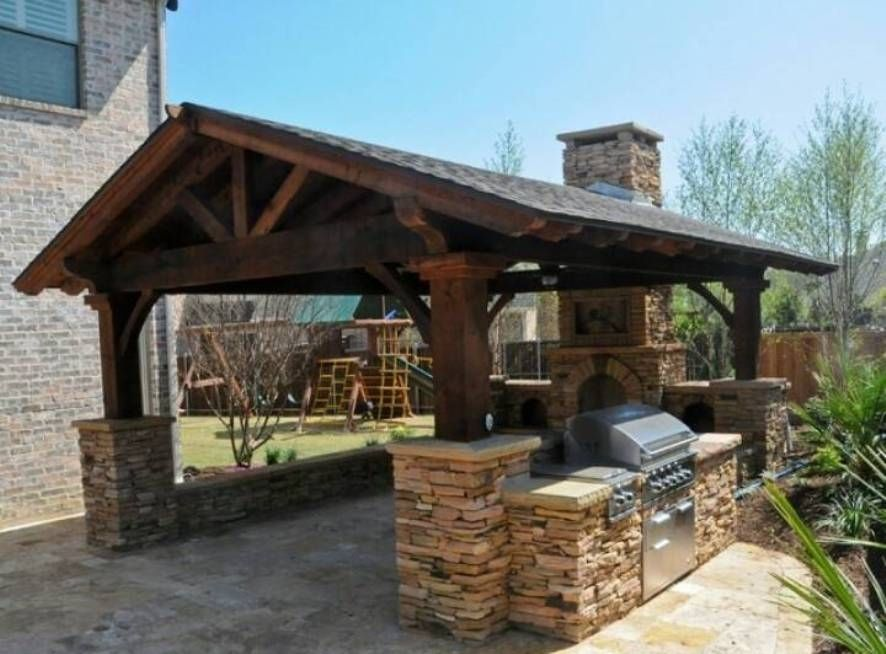 Awesome Outdoor Kitchen Designs Francescagino Home Inspiration Outdoor Kitchen Roof Ideas Covered Outdoor Kitchens Rustic Outdoor Kitchens Backyard Pavilion