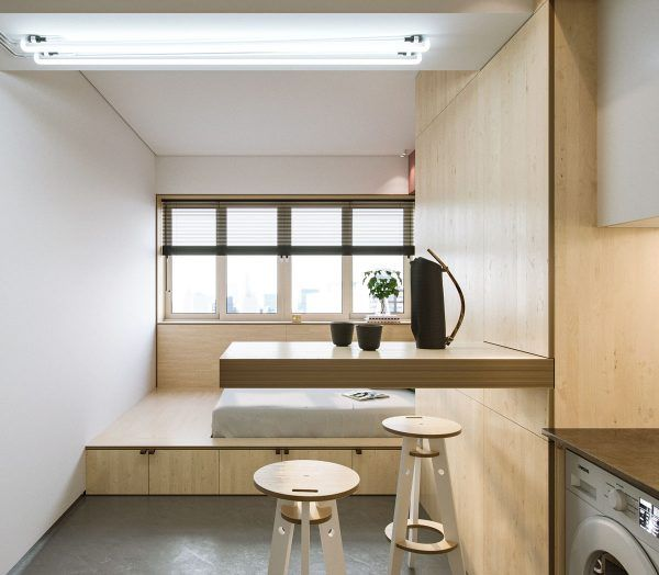 Super compact spaces a minimalist studio apartment under 23 square meters