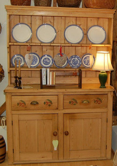 Victorian Pine Kitchen Dresser. Boarded two shelf plate rack with stepped cornice base of & Victorian Pine Kitchen Dresser. Boarded two shelf plate rack with ...