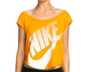 Nike Women's Signal Cropped Tee - Orange