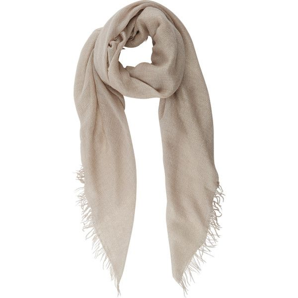 Sarti Lurex Scarf (3 745 SEK) ❤ liked on Polyvore featuring accessories, scarves, nude, square scarves, faliero sarti und faliero sarti scarves