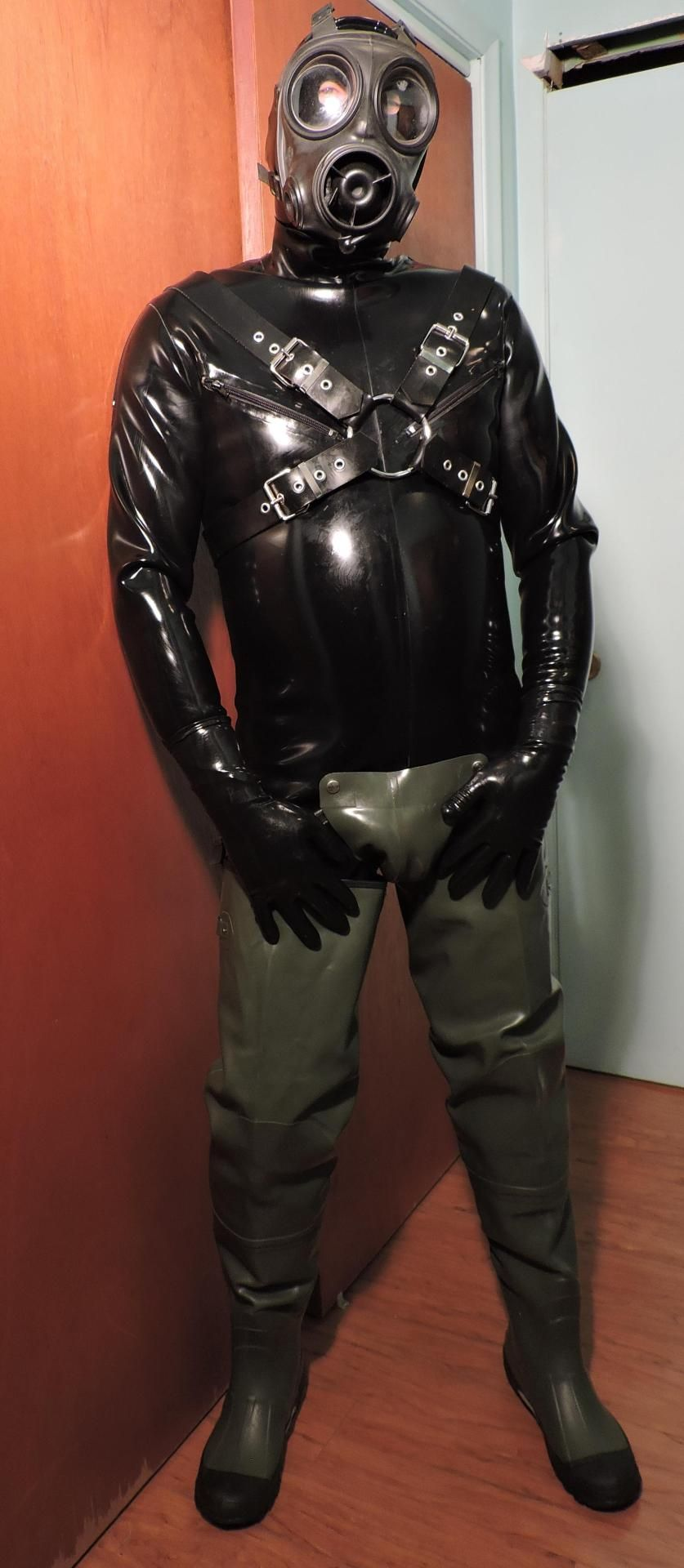 Rubber Suit And Waders Maskedbluecollarman Breath And