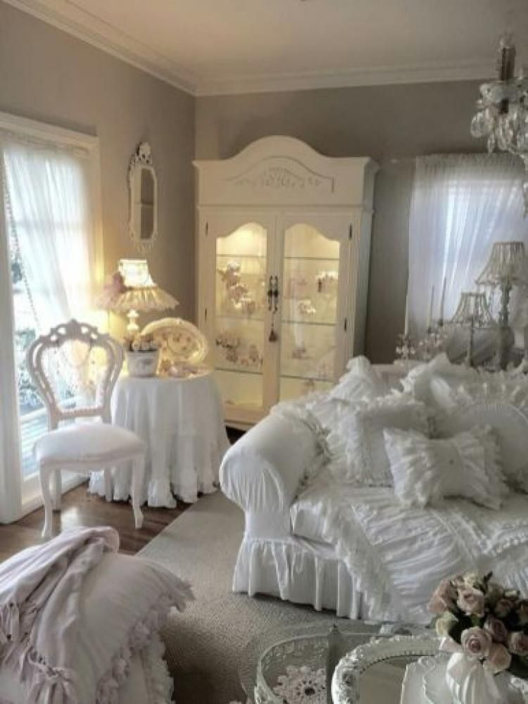 Beautiful White Shabby Chic Living Rooms Ideas Shabbychicbedrooms