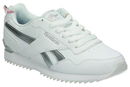 Reebok Royal Glide Rplclp, Sneaker Basses Femme, Blanc Cassé (White/Silver Met), 38.5 EU