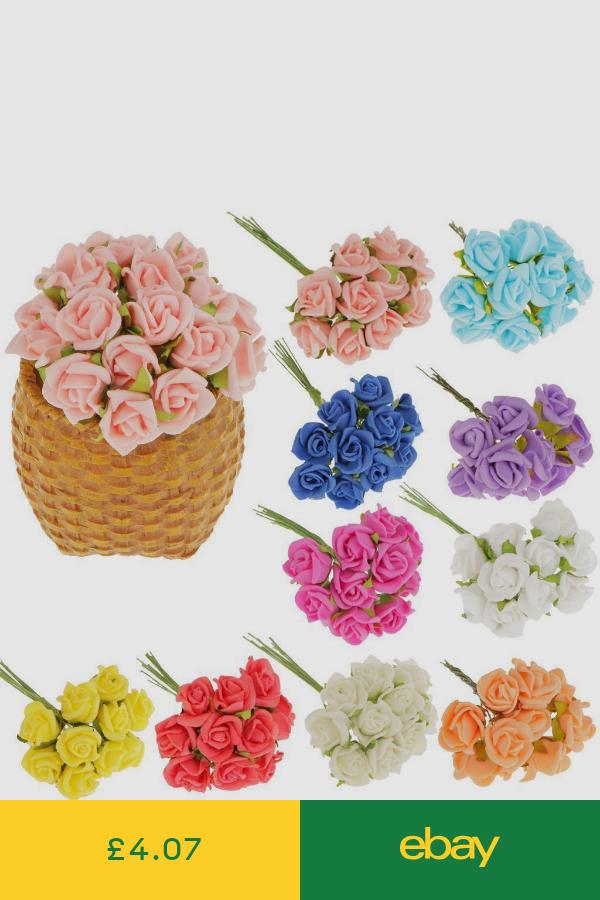 100pcs Mini Artificial Roses Faux Flowers Bouquet Wedding Bride Home Party Decor Artificial Flower Wedding Bouquets Fake Flower Bouquet Wedding Fake Flower Bouquet