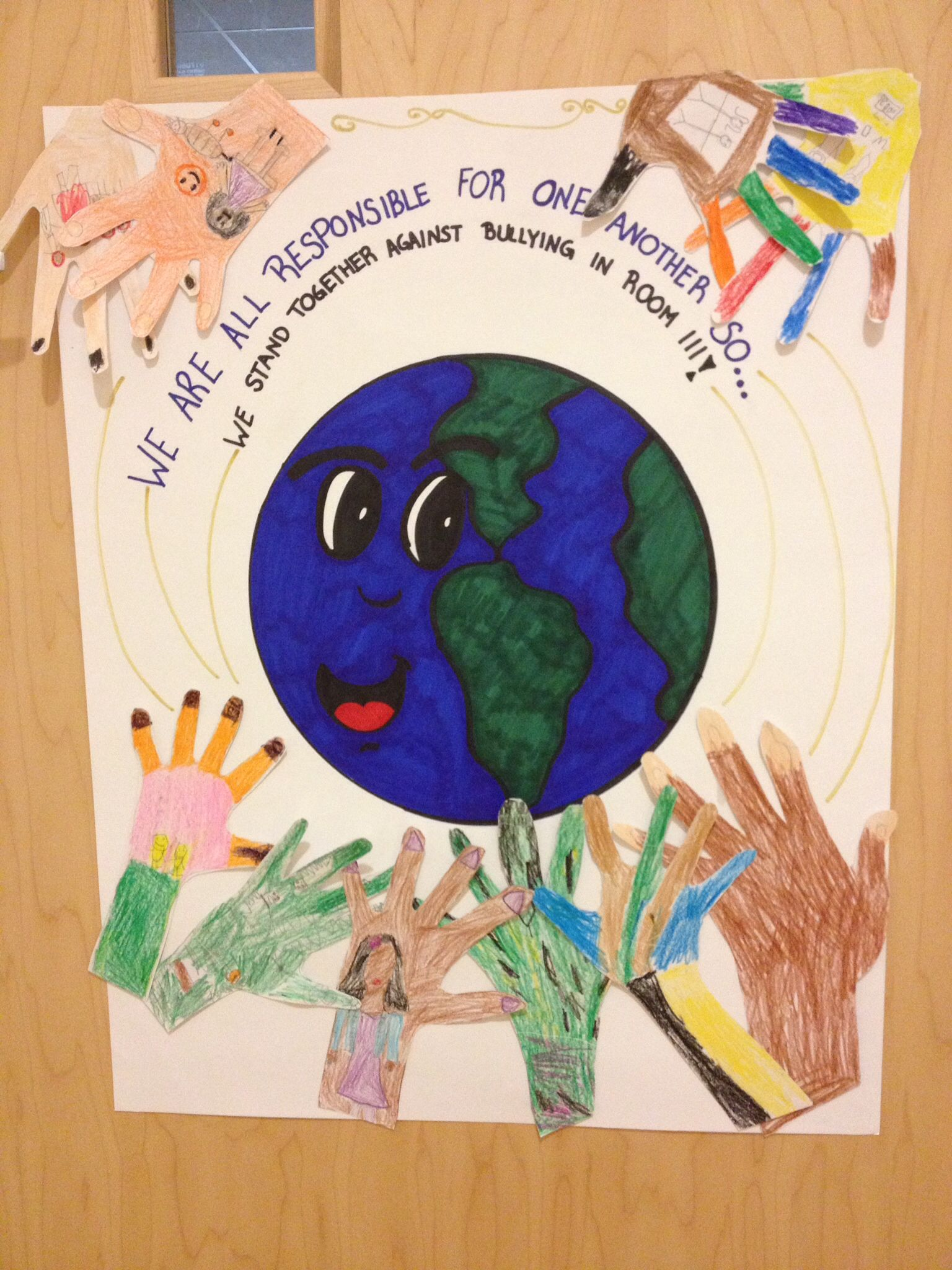 This Week Was Week Of Respect At Our School This Is The Anti Bullying Poster That My Class Made For The C Anti Bullying Posters Bullying Posters Anti Bullying