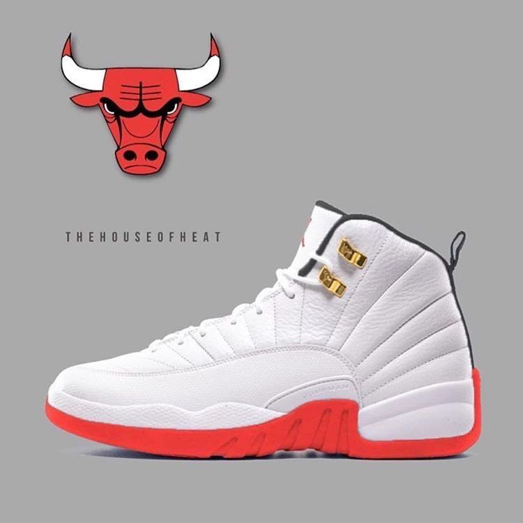 new styles ccf12 30144 air jordan 12 bulls gym red nz online