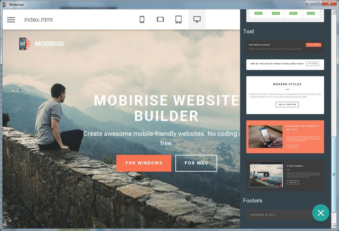 Mobirise Mobile Website Builder Builder Website Website Builder Free Website Builder Software