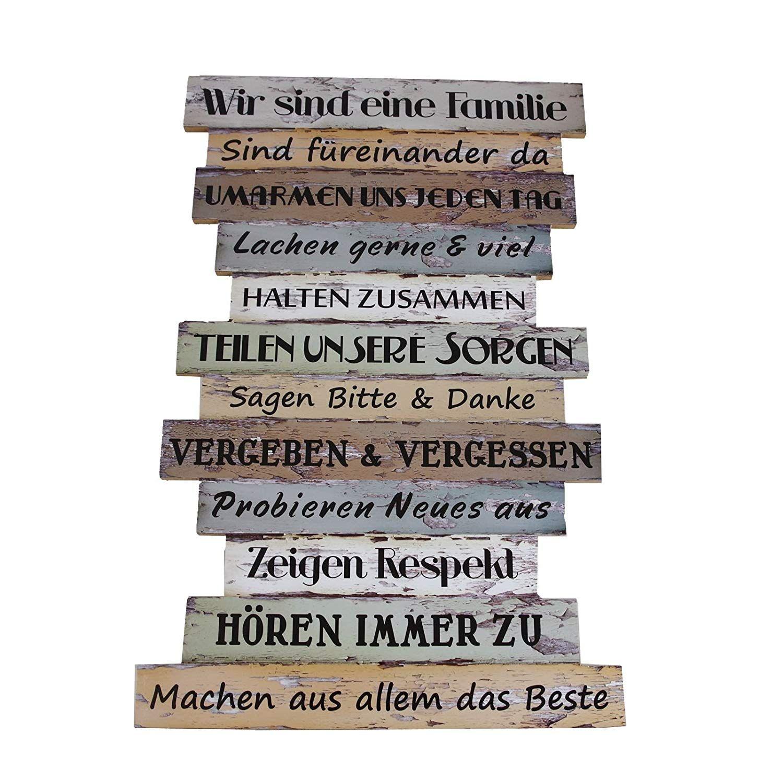 Bild Planken Schild Familienregeln Vintage Affiliate