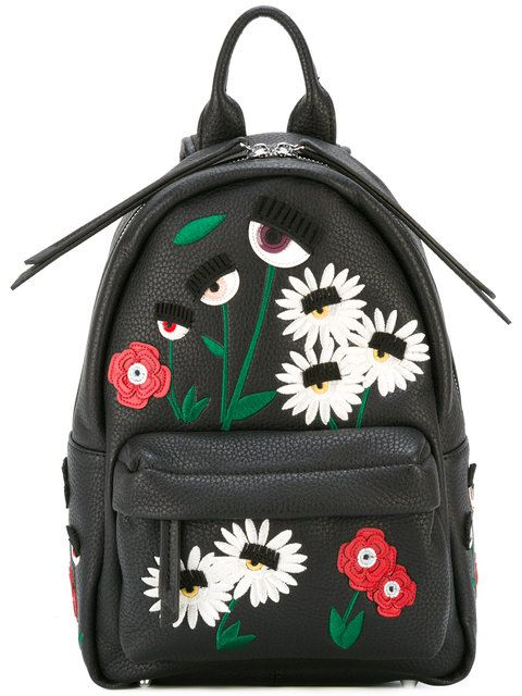 logo print backpack - Black Chiara Ferragni Y12cf