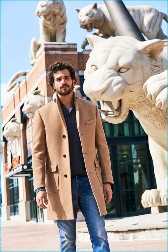 manteau beige homme comment porter