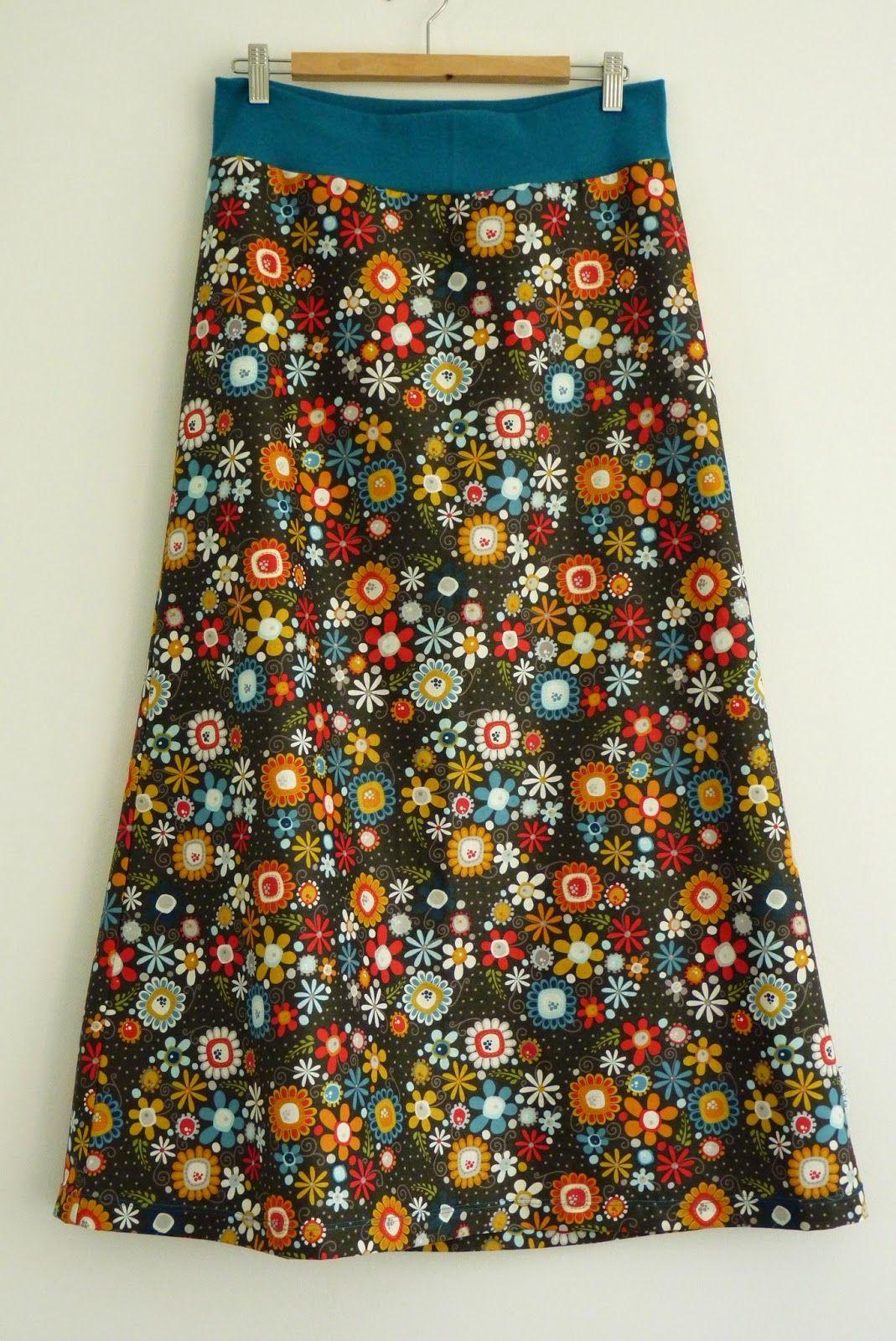 4e4d39eb96b Jitu  Jednoduchá sukně do nápletu - fotonávod Návody Na Šití