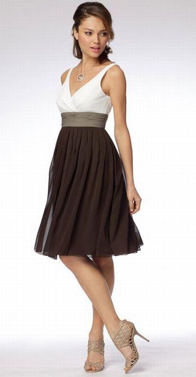 Wtoo Maids V Neck Two Tone Crinkle Chiffon Bridesmaid Dress 986 at ...