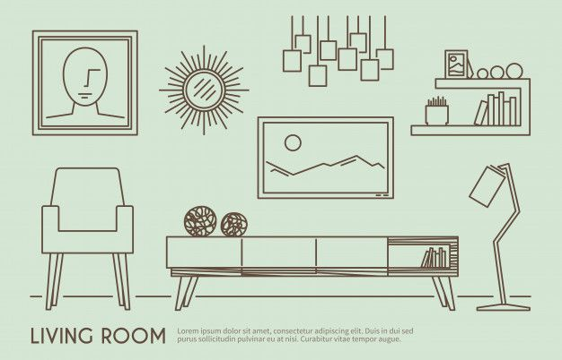 Download Living Room Furniture for free in 2020 | Interior design renderings. Interior design living room. Pattern coloring pages