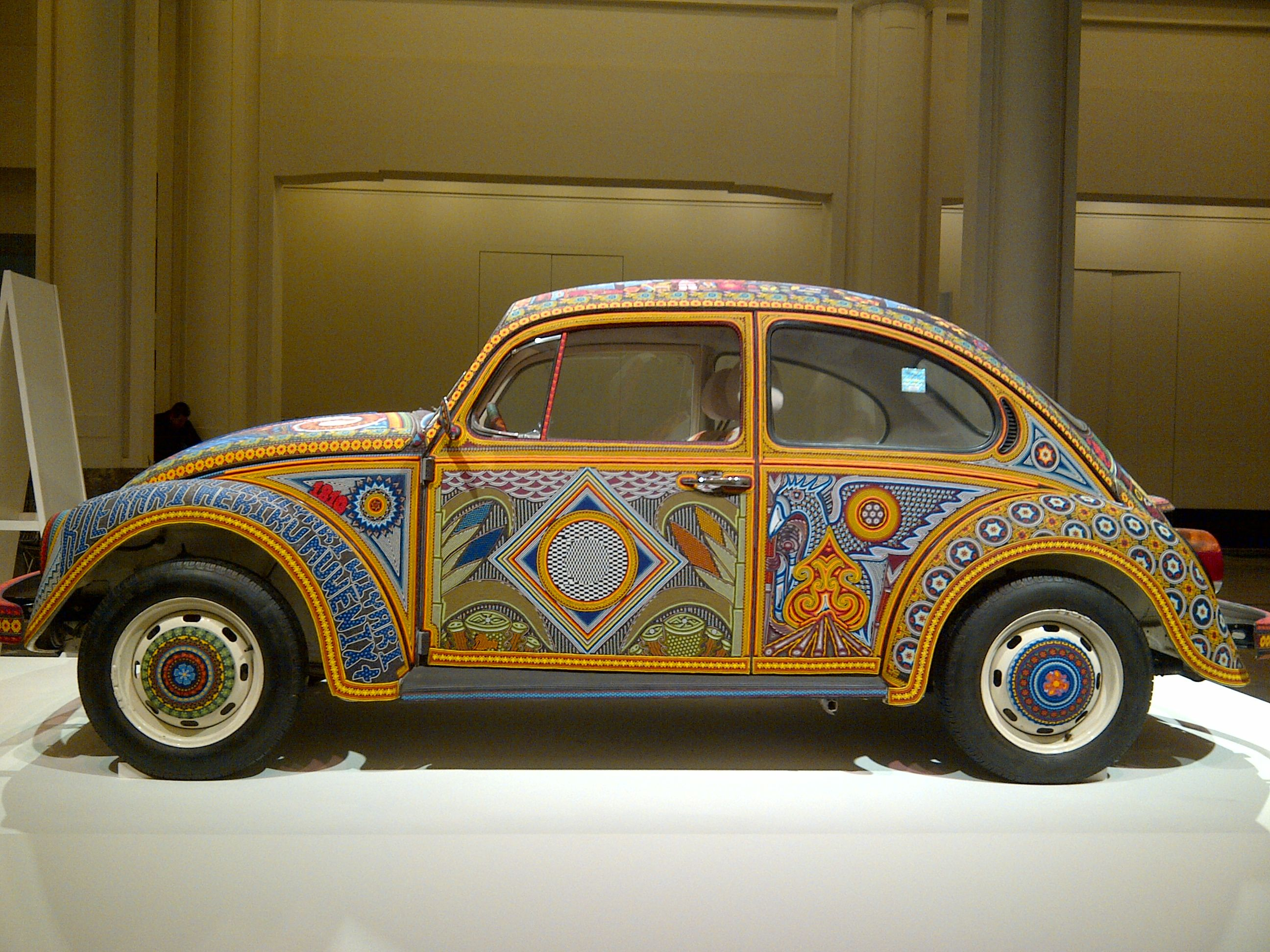 Huichol art on wheels exhibited in bozar brussels in february 2013 2 277 000 pearls