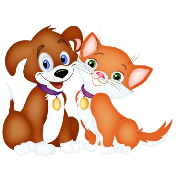 Cat pet. Dog cartoon and pictures