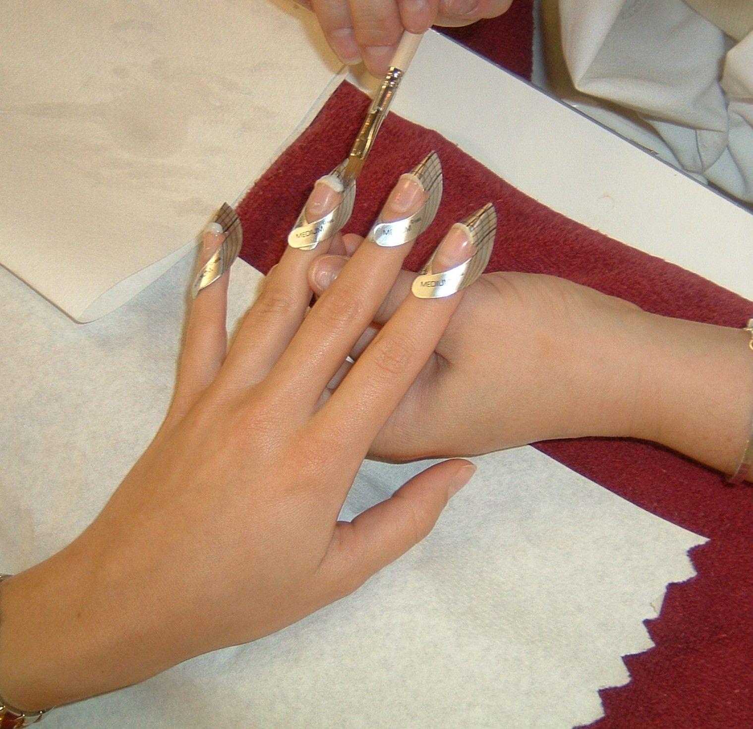 Fiberglass Nail Wraps sculptured | Cosmo school | Pinterest