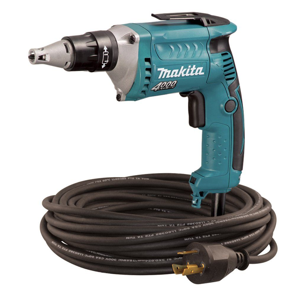 Makita FS4200TP 4,000 RPM Drywall Screwdriver with 50-Foot Twist ...