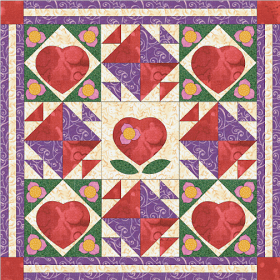 Blooming Hearts Quilt In My Color Me Series Of Quilters Coloring Book Pages Quilts Coloring Books Miniature Quilts
