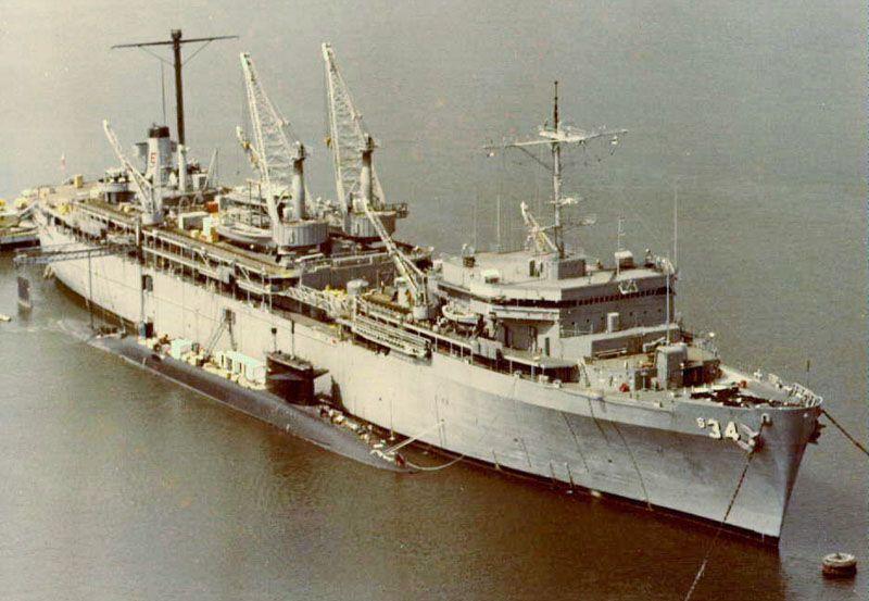 Unidentified Lafayette Class Alongside As 34 Canopus Navy Humor