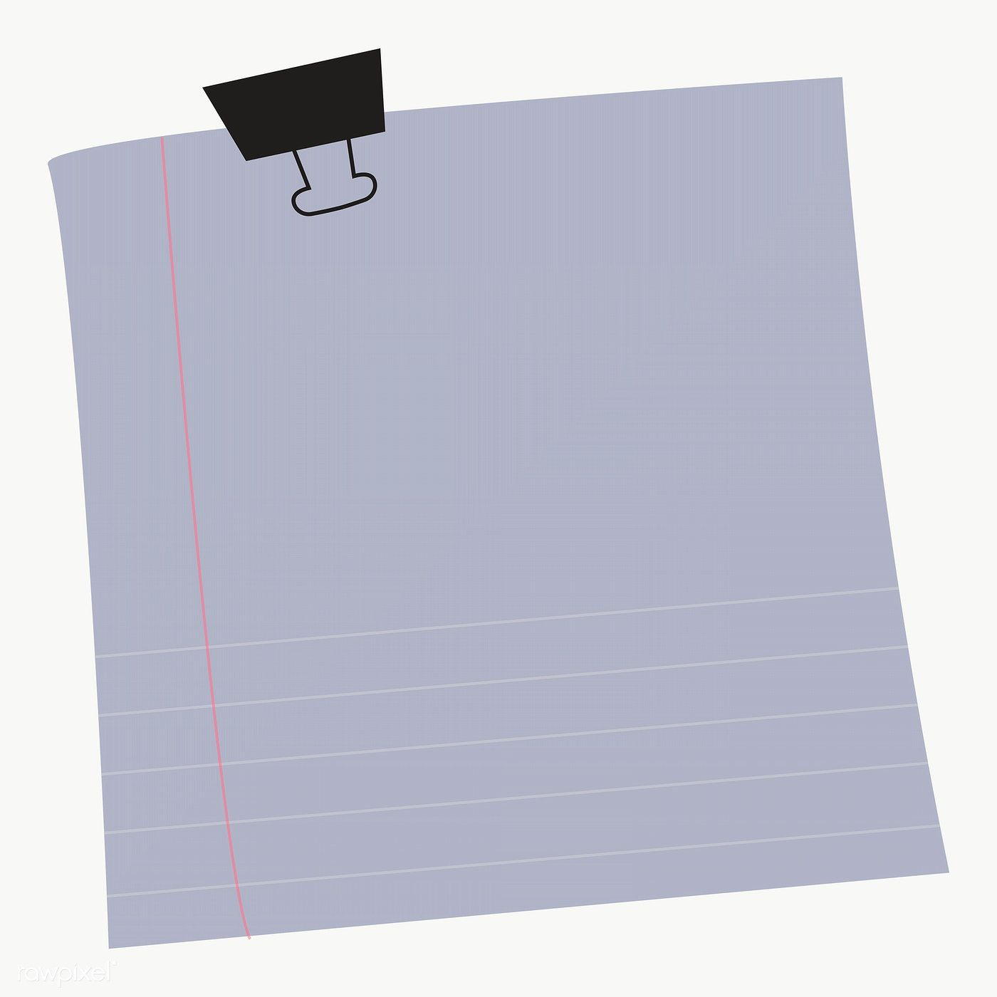 Blank Lined Notepaper Set With Binder Clip On Transparent Premium Image By Rawpixel Com Chayanit Note Paper Notes Design Doodle Frame