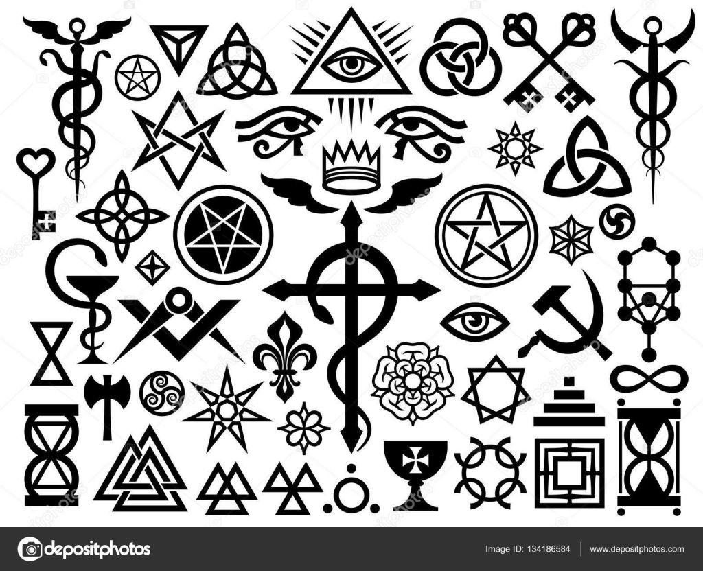 Baixar Medieval Occult Signs And Magic Stamps Origin Set
