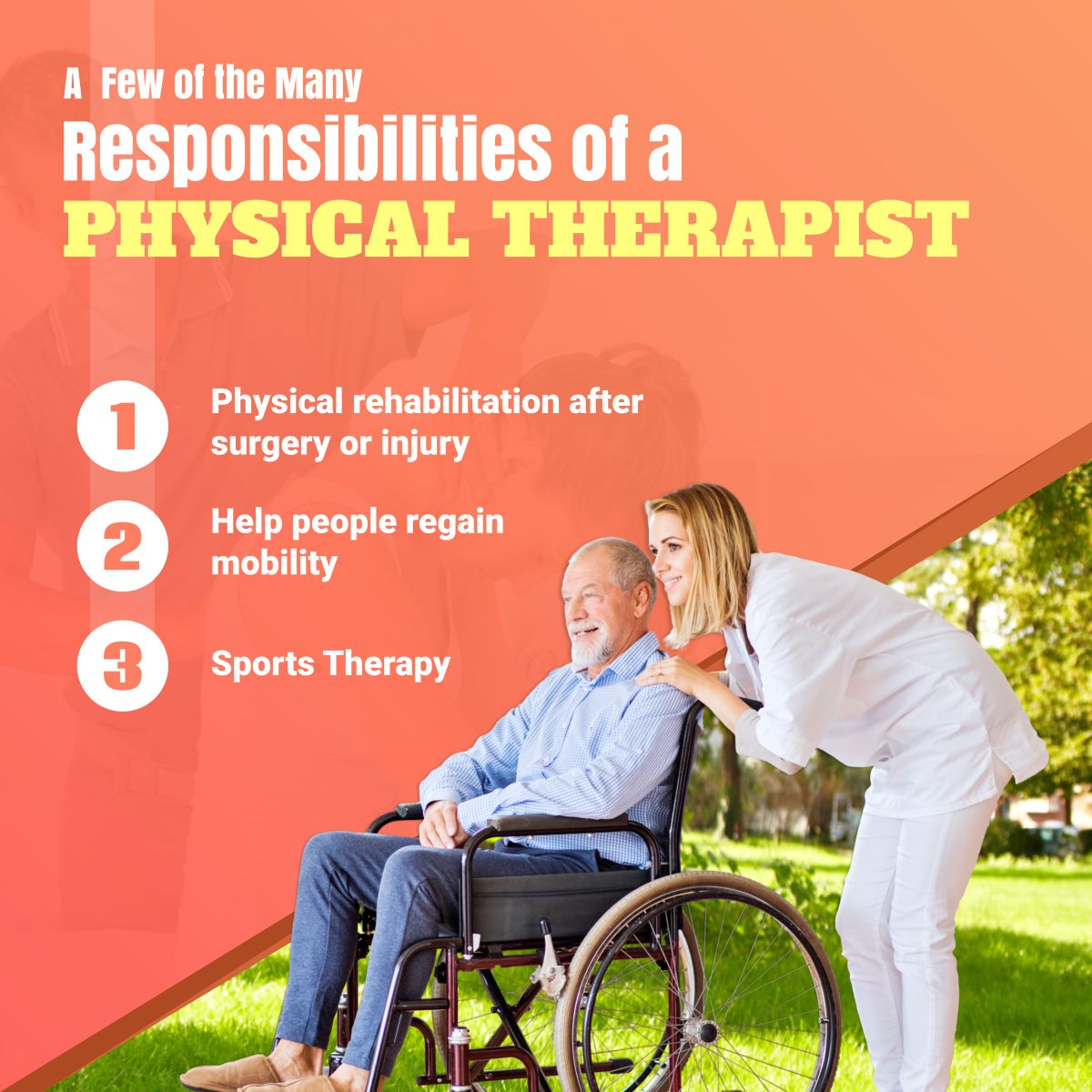 A Few of the Many Responsibilities of a Physical Therapist
