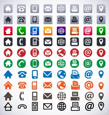 Contact icons vector places to visit pinterest icons business cards contact icons vector reheart Choice Image