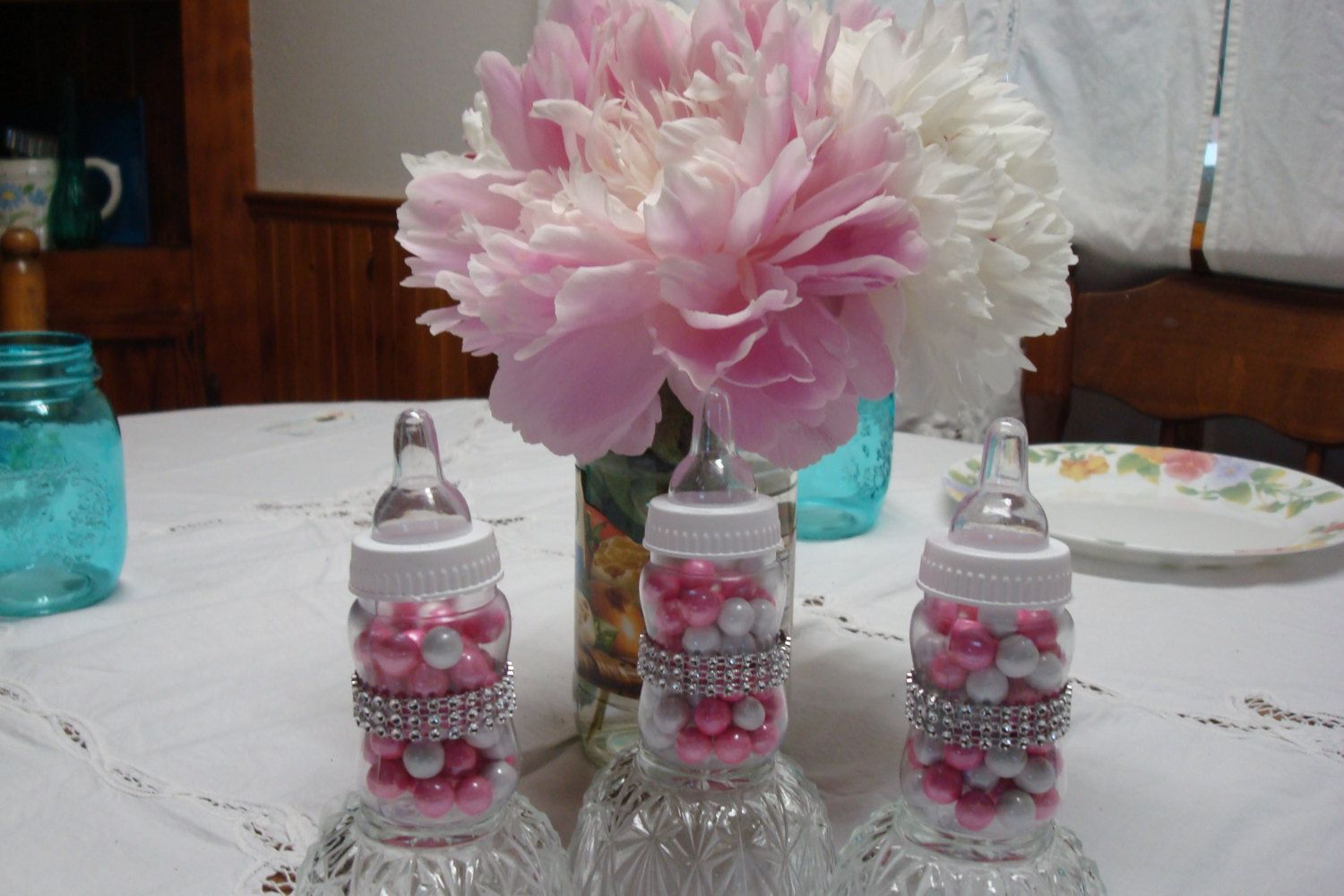 Princess Theme Baby Bottle Favors; Bling Baby Bottles; Fancy Baby Shower  Favorsu2026