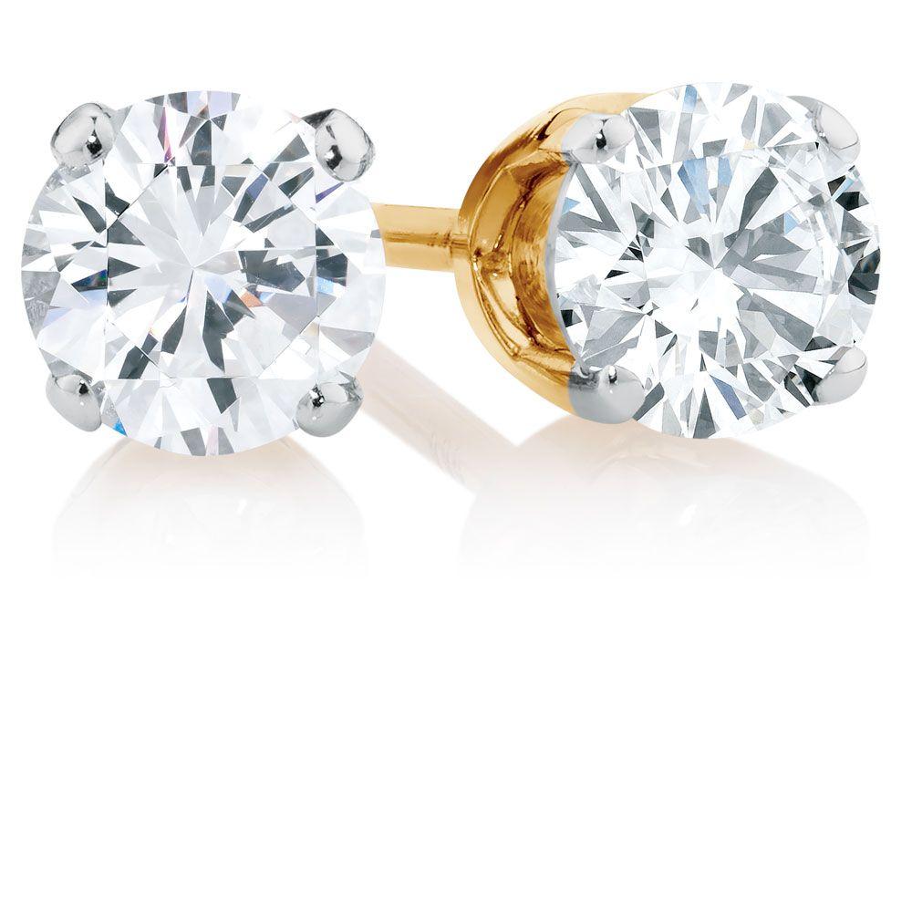 1 2 Carat Tw Diamond Stud Earrings Michael Hill