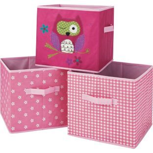 buy canvas storage boxes girls at your. Black Bedroom Furniture Sets. Home Design Ideas