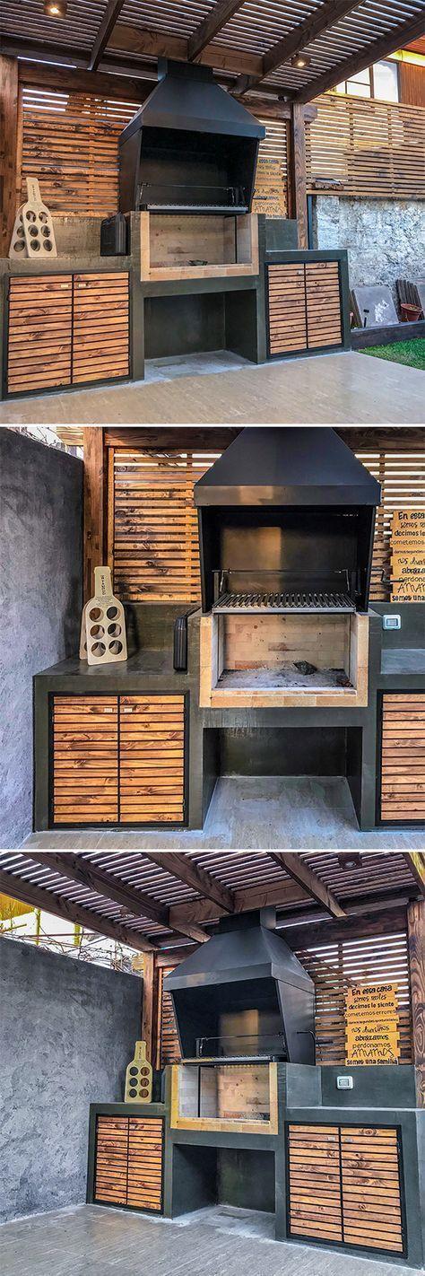 Photo of Cuisine d'extérieur moderne et esthétique – Cuisine d'extérieur en bois moderne et esthétique