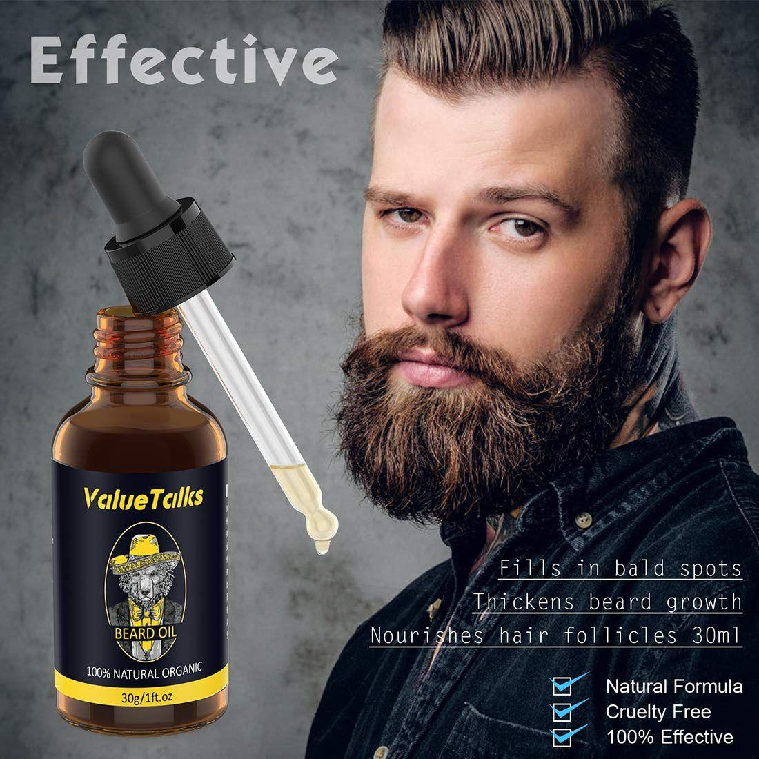100 Natural Beard Oil,Beard Care Kit for Men Includes
