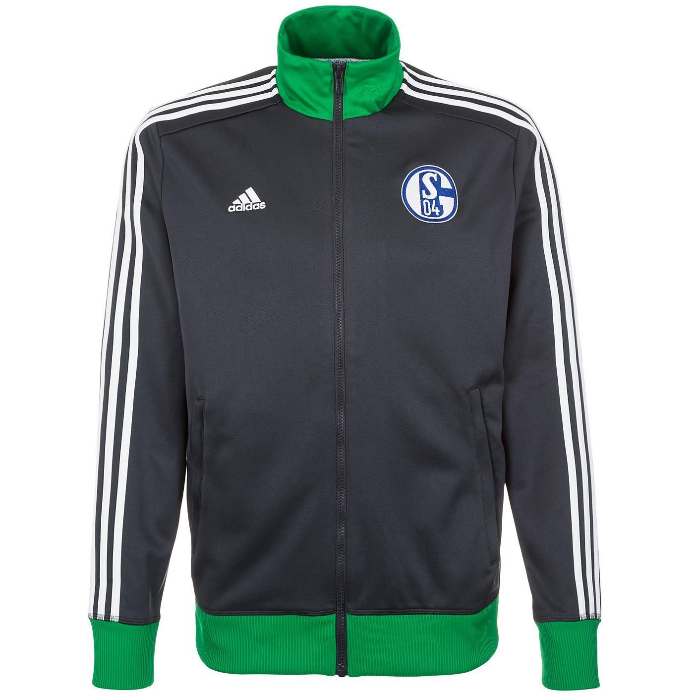 FC SCHALKE 04 Original Adidas Freizeit Trainingsanzug Jacke