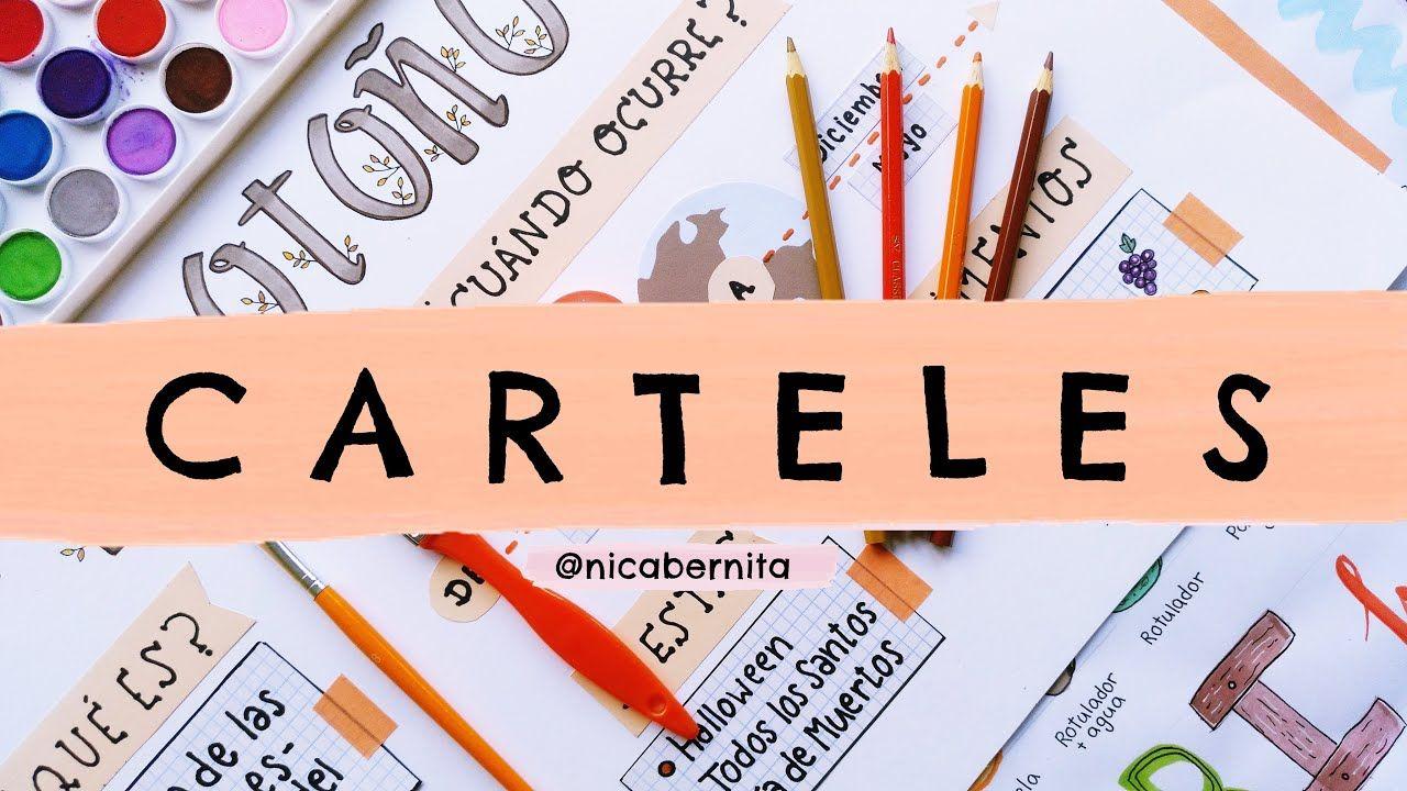 CÓMO HACER CARTELES PARA EXPOSICIONES LETRAS BONITAS para