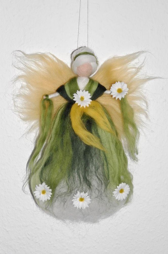 MARGERITEN - FEE  ELFE   Jahreszeitentisch Märchenwolle Margerite Wiese