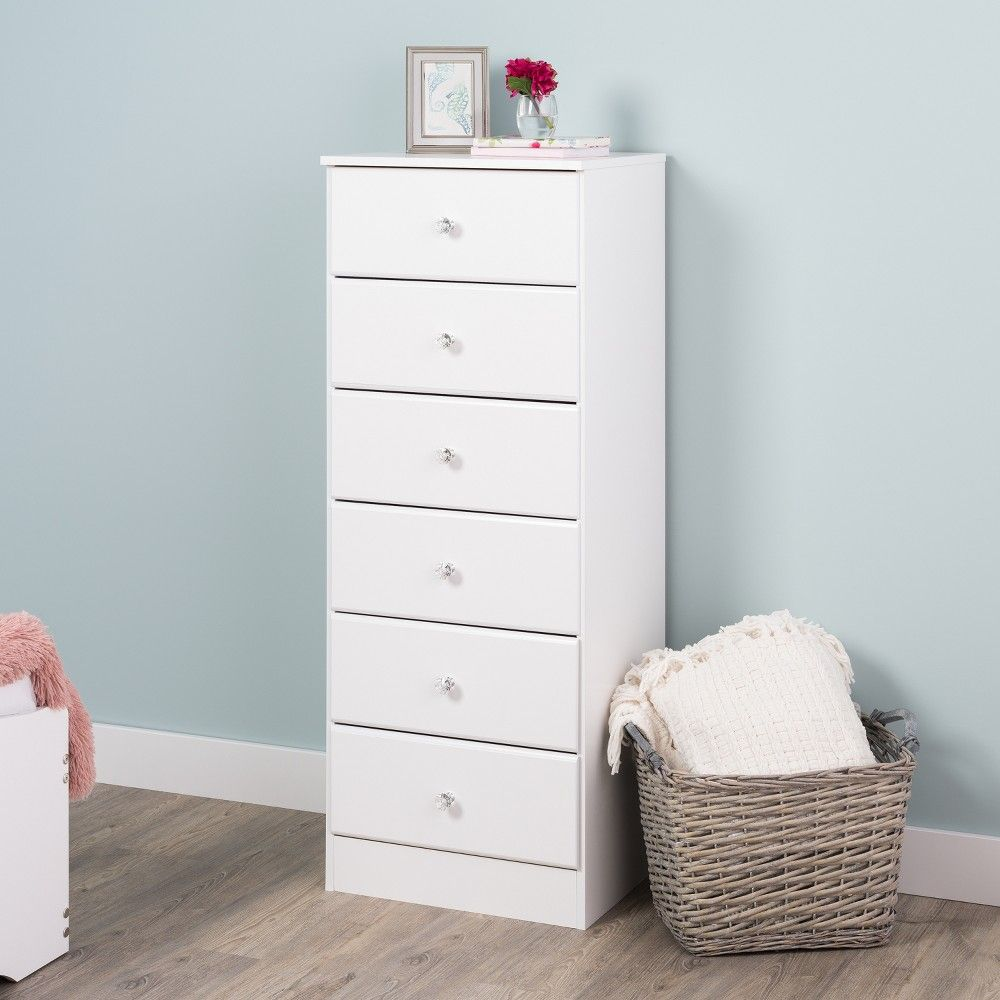 Astrid 6 Drawer Tall Chest White Prepac White Chest Of Drawers Tall Chest Dresser Tv Stand [ 1000 x 1000 Pixel ]