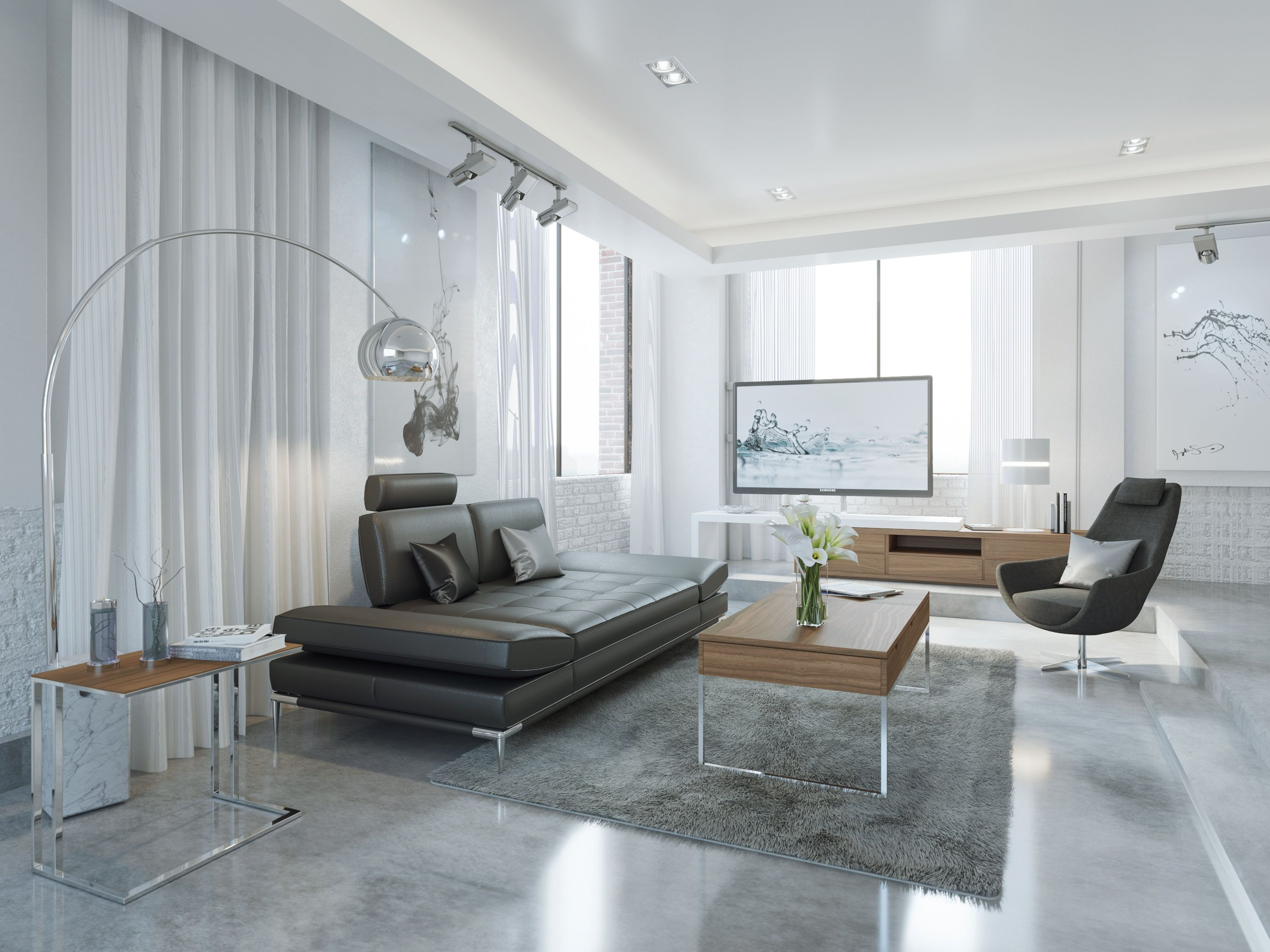 Sullivan Modern Sofa Dark Gray   With Reclining Seats And Adjustable  Armrests, This Sofa Doesn