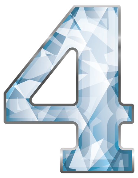 3d Number Four Red Gold Png Clip Art Image Art Images Clip Art Alphabet Wallpaper