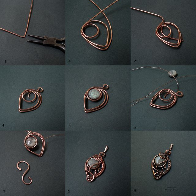 Photo of Picture wire jewelry tutorial – pendant with beads or could be used for earrings…,  #beads …