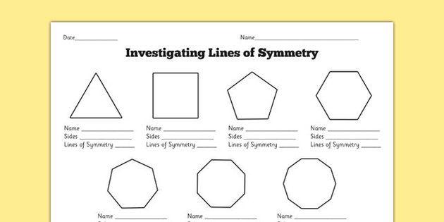 investigating lines of symmetry worksheet matem ticas tercer grado pinterest symmetry. Black Bedroom Furniture Sets. Home Design Ideas