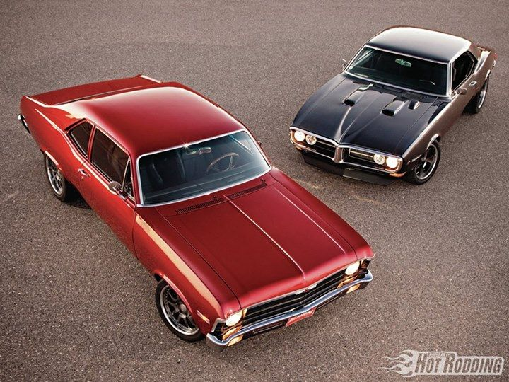 a 1968 #Pontiac #Firebird and 1970 #Chevy #Nova