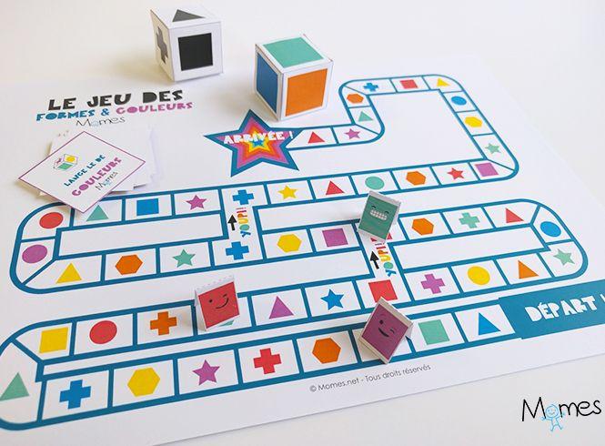 Le jeu des formes et des couleurs | Jeux éducatifs maternelle, Jeux