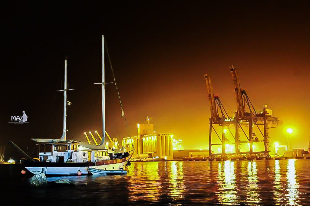 Port Sudan Harbour At Night ميناء بورتسودان في الليل السودان By Maz Satti Sudan Portsudan Redsea Night Harbour Red Sea Photo Sudan