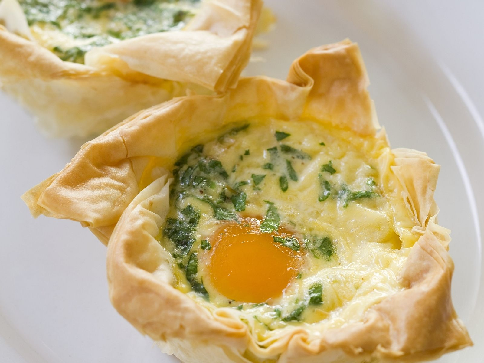 Eier speck t rtchen aus filoteig rezept schlemmen - Eier kochen zeit ...