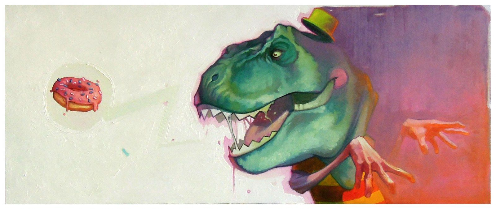 Sainer : Hungry  oil on canvas 50x120cm, 2012